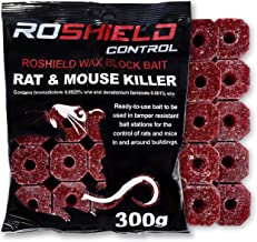 Roshield 300g Wax Block Bait for Rat & Mouse Control - Bait Station Refill Pack