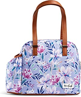 Fit & Fresh Insulated Lunch Bag, Laketown Tulane Floral Lilac…