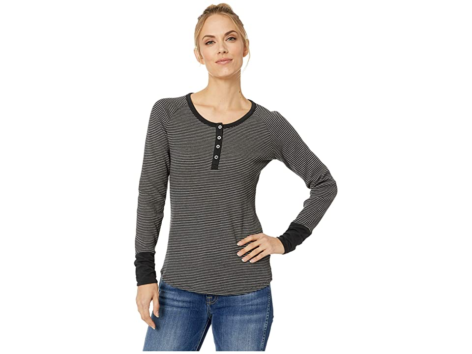 Columbia Along The Gorge Thermal Henley (Black/Dark Grey Heather) Women