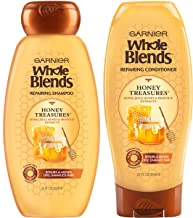 Garnier Hair Care Whole Blends Honey Treasures Repairing Shampoo and Conditioner, 44 Ounces