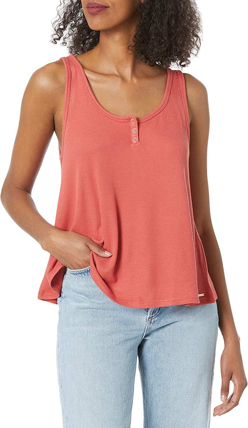 Volcom Women's Lived in Lounge Thermal Tank Top