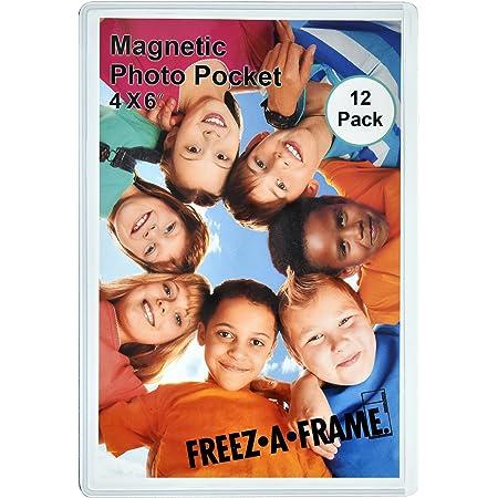 12 Pack Magnetic Picture Frames for Refrigerator 4x6 Fridge Magnets Photo Frame