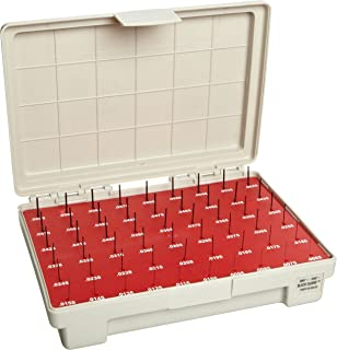 Vermont Gage Steel Go Pin Gage Set, Black Oxide, Tolerance Class ZZ, 0.0060 - 0.0600