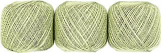 オリムパス製絲 エミーグランデ レース糸 合細 col.243 黄緑 系 50g 約218m 3玉セット