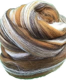 Shep's Cafe Latte Merino Wool Top Roving Fiber Spinning, Felting Crafts USA (8lb)