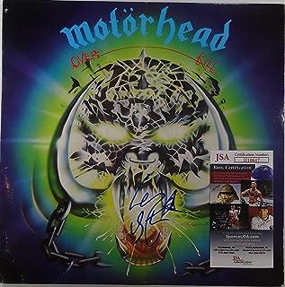 Signed Motorhead Lemmy Kilmister Autographed Overkill Lp Certified Jsa #Iii10617