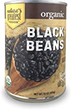 Nature's Greatest Foods, Organic Black Beans, Vegan, Gluten Free, Ready to Serve, 15 Ounce (Pack of 12)