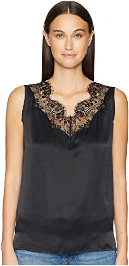 Nanty Lace Inset Sleeveless Top