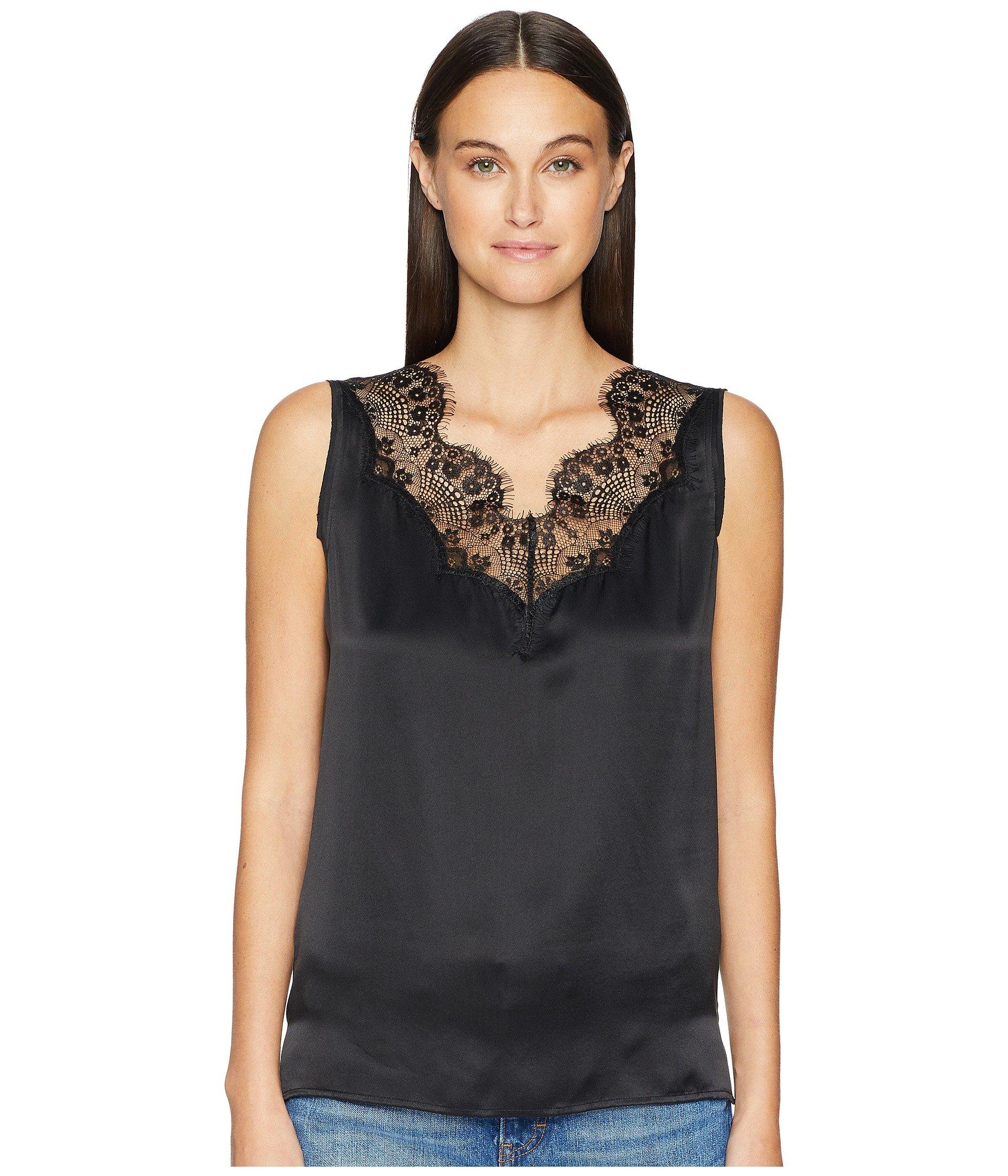 Black Lace Sleeveless Nanty Escada Top Inset Sport nUqYU8wF