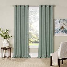 "Eclipse Newport 52"" x 84"" Insulated Darkening Single Panel Grommet Top Window Treatment Living Room, 52x84, Evergreen"
