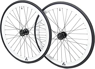 Best white fixed gear wheelset Reviews