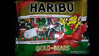 Haribo Gold-Bears Christmas Edition Gummi Candy Mini Packages, 9.5oz Total Bag Weight