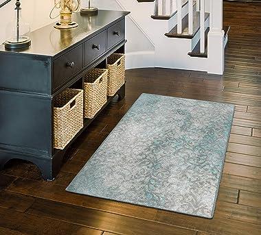 Brumlow Mills Charleston Decorative Vintage Blue Trellis Area Rug for Living Room Decor, Bedroom Carpet, Dining, Kitchen or E