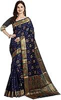 Kili Fashion Women's Floral Kanjivaram Katan Silk Saree with Blouse Piece (Free Size)