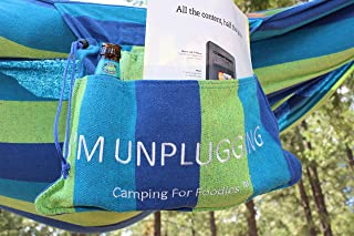 Camping For Foodies Hammock with Attached Carrying and Accessory Bag for Easy Access to Drinks, Magazines, Phones etc. Dis...