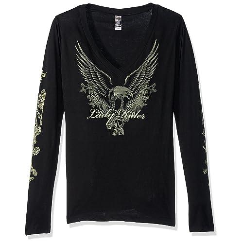 ebc33cd2e40 Women s Biker Shirts  Amazon.com