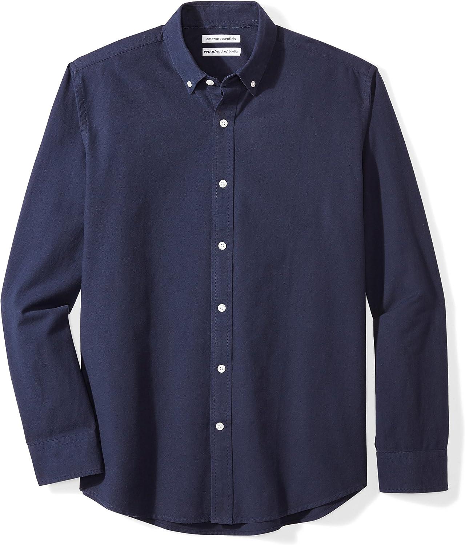 Amazon Essentials Regular-fit Long-sleeve Stripe Oxford Shirt - Camisa abotonada Hombre