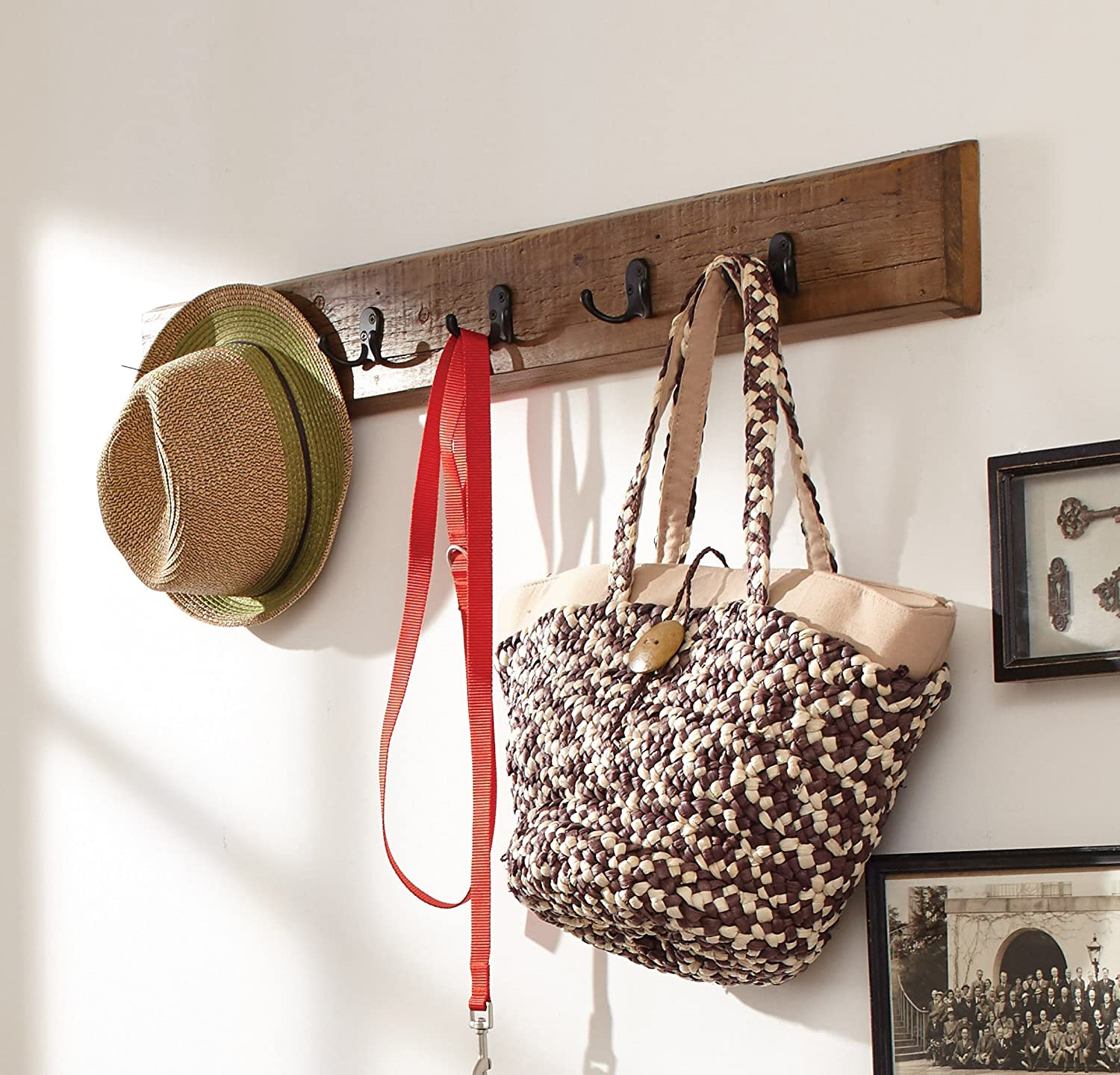 Alaterre Furniture Renew Reclaimed Coat Hook, Natural