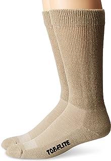 Top Flite Men's Diabetic Non-Binding Cushion Crew Ultra Dri Socks 2 Pair Pack
