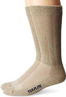 Top Flite Men's Diabetic Non-Binding Cushion Ultra Dri Mid Calf Socks 2 Pair Pack