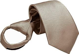 Mens Boys Skinny Zipper Tie Wedding Solid Color Easier Designer Neckties