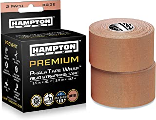 (2 Pack) Rigid Strapping Tape - for Blister Prevention & McConnell Knee or Feet Taping for Backpacking Walking Running Hiking Trail Climbing in Shoes or Sock Liners - Perfect with Gaiters