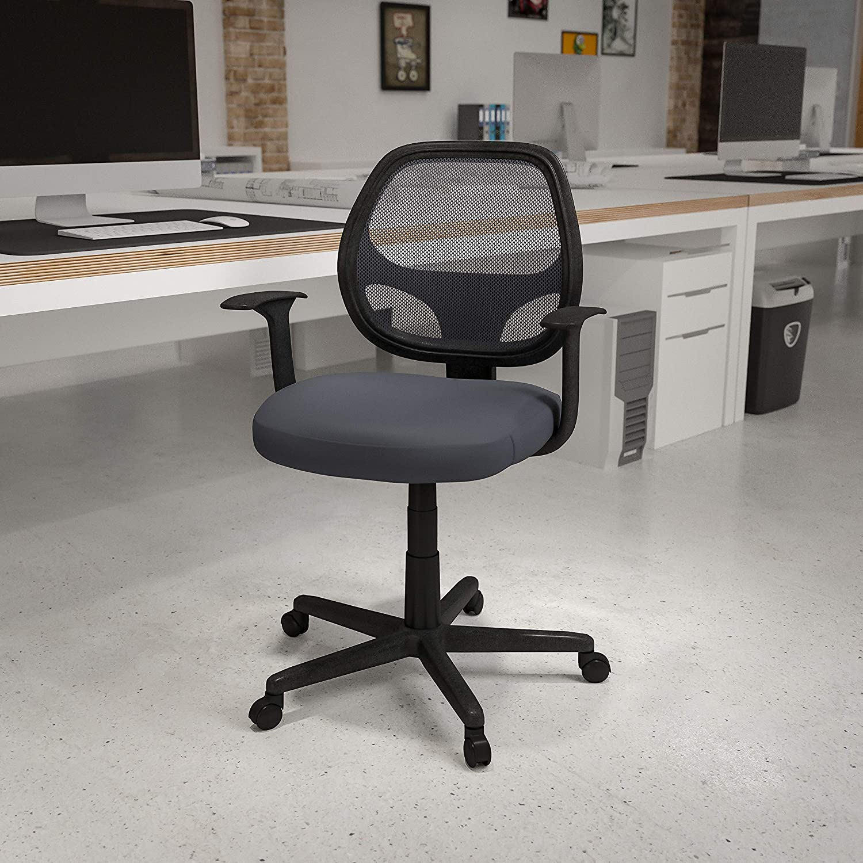 Flash Furniture Fundamentals Mid-Back Swivel Erg Gray Daily bargain sale Mesh Branded goods