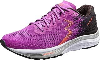 361 Degrees Women's Spire 3 High Performance and Mileage Lightweight Running Shoe, Black/Purple, 6.5