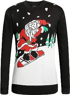 SSLR Men's Xmas Holiday Crewneck Pullover Ugly Christmas Sweater