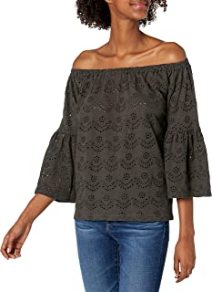 Lucky Brand Women's Washed Off The Shoulder Top