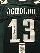 Autographed/Signed Nelson Agholor Philadelphia Green Football Jersey JSA COA