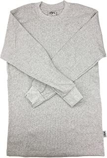 Shaka Wear Men's L/S Thermal Top, Heather Gray
