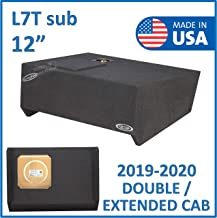 """$180 » Fits 2019-2020 Chevy Silverado & Gmc Sierra Extended cab/Double cab 12"""" Single Sealed sub Box for Kicker L7T Solo baric"""