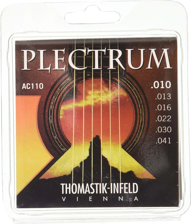 Thomastik Cuerdas para Guitarra Acústica Plectrum Acoustic Series juego AC110 Extra Light .010-.041 sin niquel