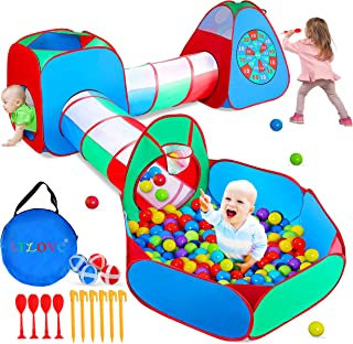 STLOVe Kids Play Tent, Customized Kids Play Tunnel Tent Toy Tents Pop Up Tent Fort with Storage Bag (Not Include Ball)│Bol...