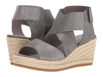 Eileen Fisher Willow 3 (Pewter Metallic Suede) Women