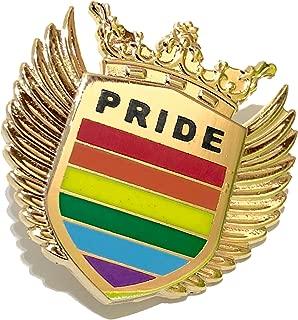 Gay Pride LGBT Royal Colorful 3D Hard Enamel Lapel Pin