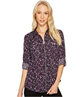 MICHAEL Michael Kors - Leaf Print Lock Zip Top