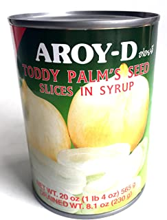 Fruits in Syrup (Sliced Toddy Palm Seed) 20oz (Pack of 6)