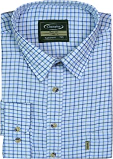 MENS CHAMPION SHORT SLEEVED BOYS TATTERSAL CASUAL SHIRTS OFFICE PARTY M TO 5XL