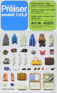 Preiser 45223 Clothes, Vests, Bags, Etc G Scale Part Model Figure