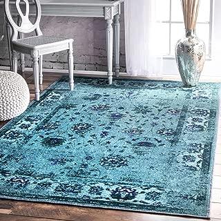 nuLOOM Elizabeth Vintage Persian Area Rug, 5' x 8', Turquoise