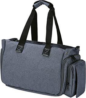 Aideis Extra Large Breast Pump & Diaper Tote Bag, Insulated Cooler Pockets, for Working Moms, Waterproof, Fits 15