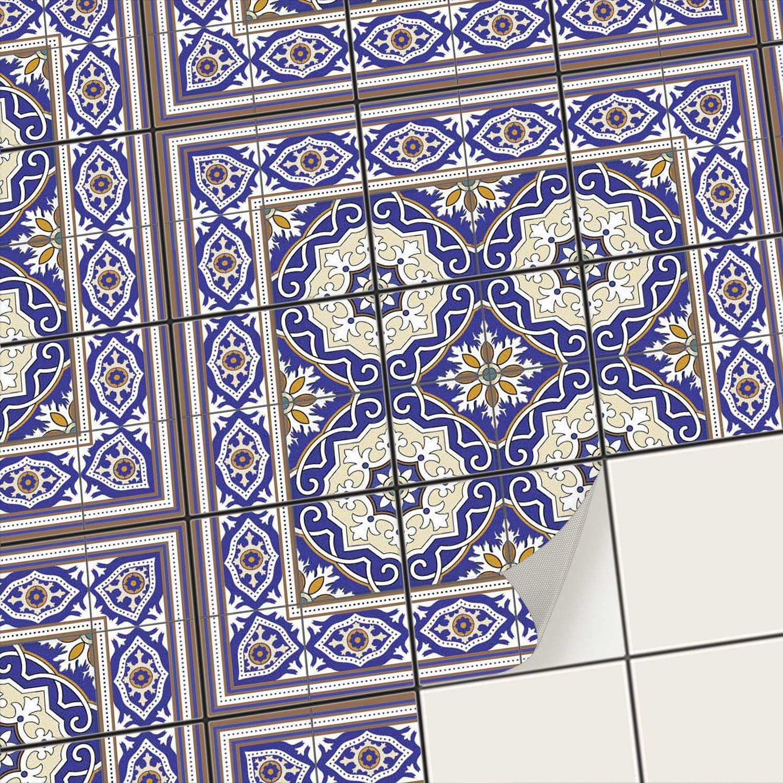 Creatisto Mosaikfliesen Fliesenaufkleber Fliesenfolie - Klebe Folie für Wandfliesen I Klebefliesen Deko Folien für Fliesen Ornament in Bad u. Küche (15x15 cm I 72 -Teilig)