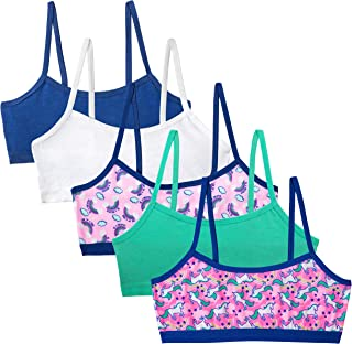 Simply Adorable Girls Training Bras Girls' 5-Pack Bralettes