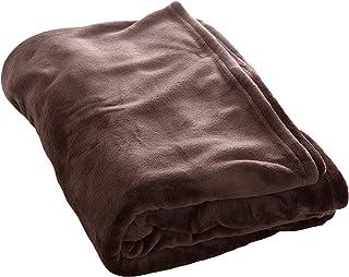 アイリスプラザ fondan 毛布 シングル 無地 ブラウン 特製BOX入り 品質保証書付 洗える 静電気防止 プレミアムマイクロファイバー 暖かい 冬 クリスマス ギフト 140×200cm