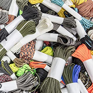 Atwood Rope MFG Odds and Ends Paracord | 4 Pack of Random Lengths | Variety of Vibrant Colors and Patterns