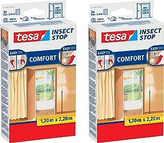 Tesa Insect Stop Comfort vliegenhor voor deuren (wit (lichte inkijkbescherming), 4 x 0,65 m: 2,2 m)