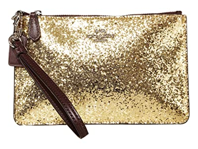 COACH Small Wristlet (Gold/Silver) Clutch Handbags