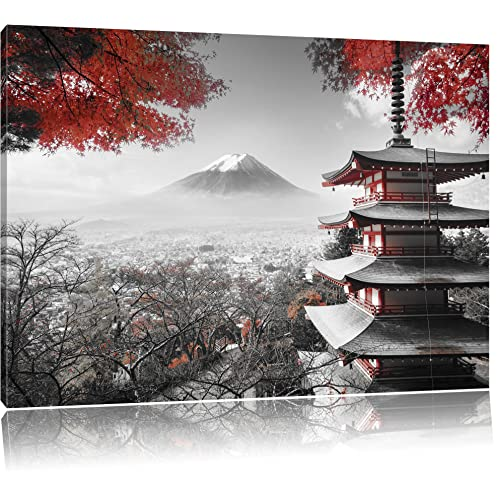 Japanese Black And White Painting Landscape Art Large Poster /& Canvas Pictures